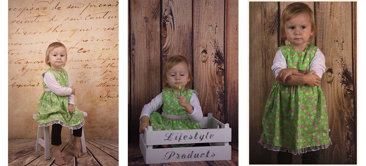 Kleinkindfotografie, Kind sitzt, Kind mit Lolly, Kind steht