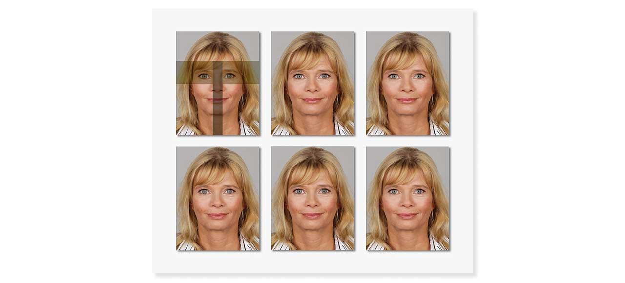 Passfoto Passbild biometrisch Frau