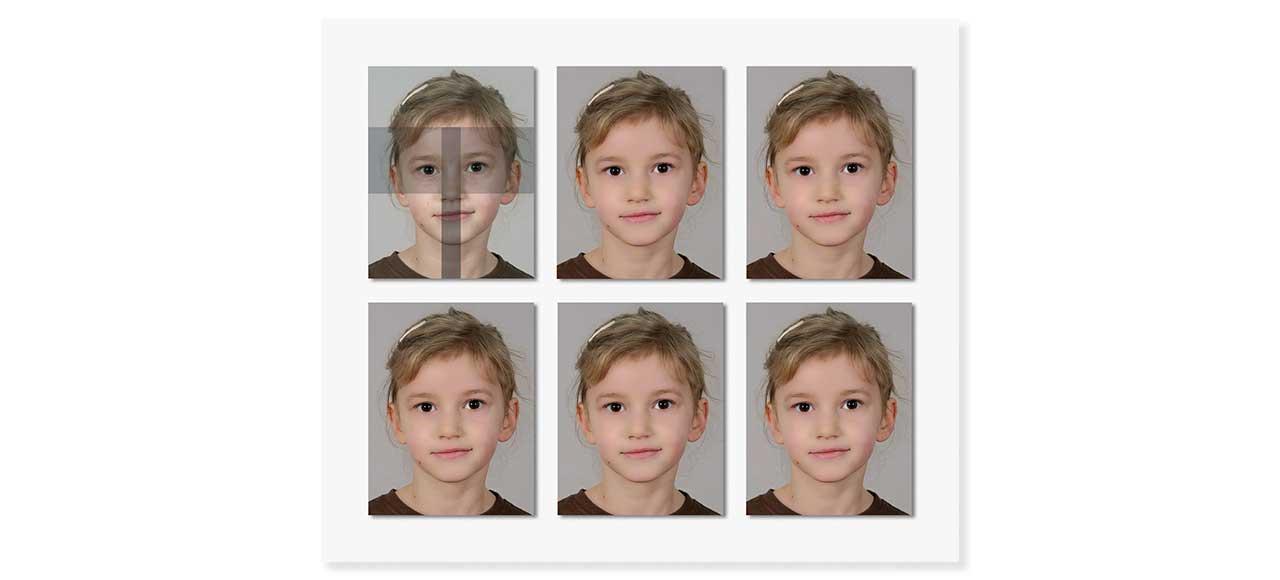 Passfoto Passbild biometrisch Kind 6 bis 9 Jahre
