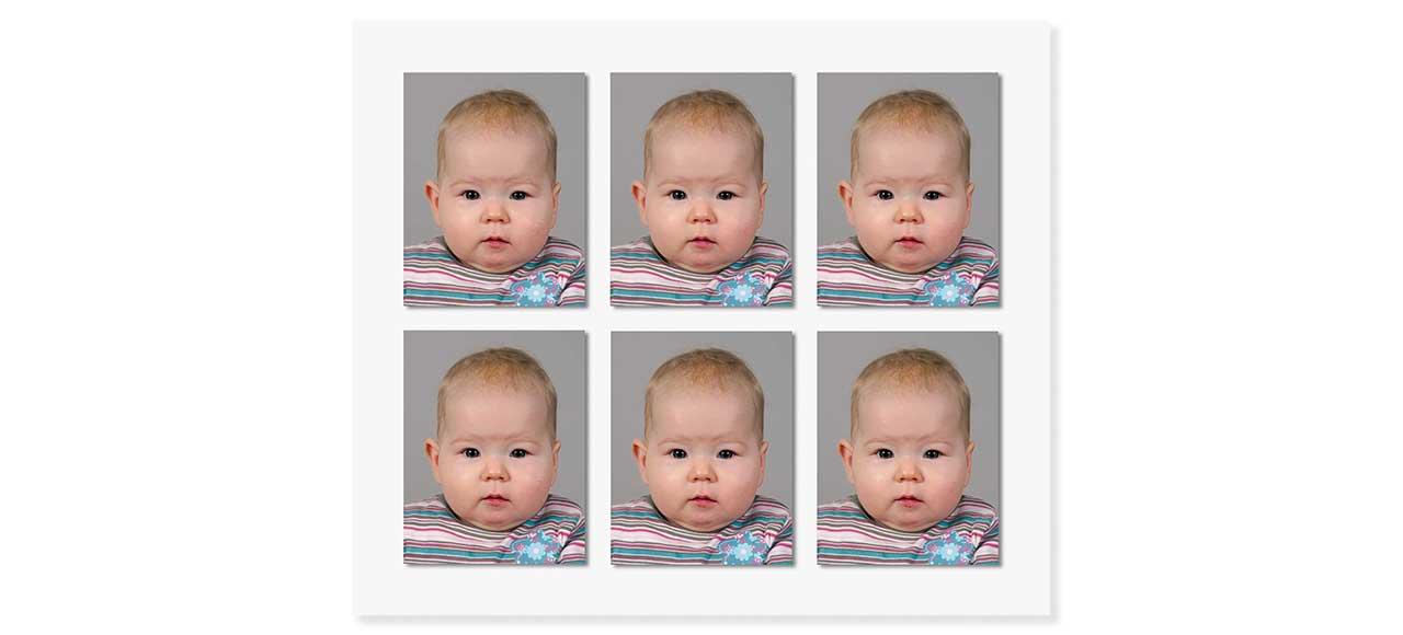 Passfoto Passbild biometrisch Säugling Kleinkind